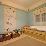 חדר שינה ילדות כחול